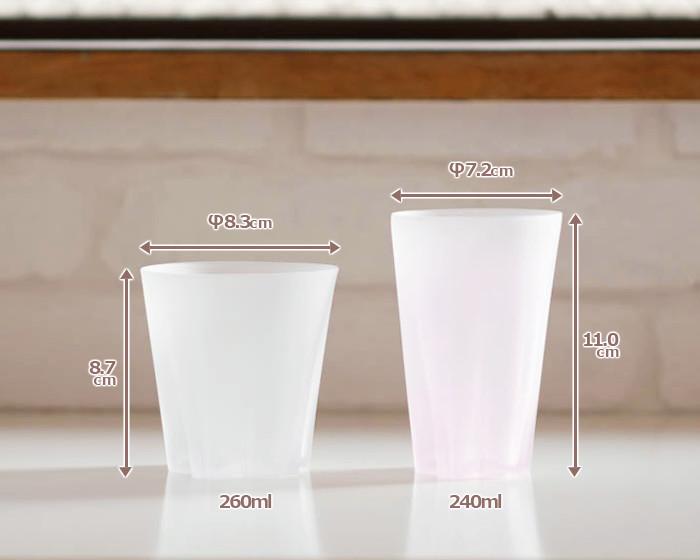 サクラサクグラスのロックグラスとタンブラーの比較