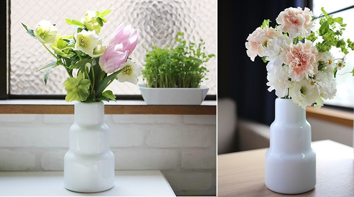 Big bouquet can be arranged neatly with Arita porcelain flower vase.