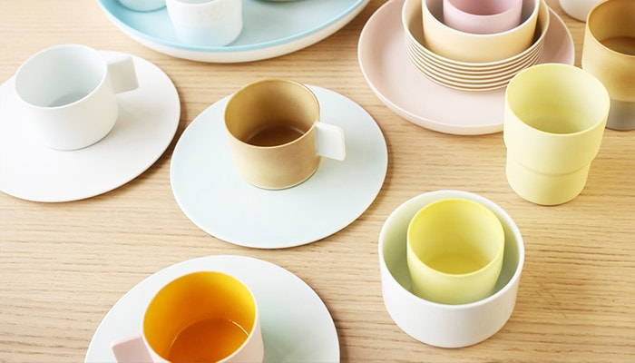 colorful tableware of S&B series