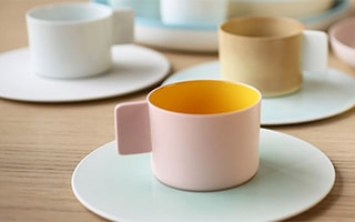 Coffee cups and saucers of Japanese Arita Porcelain