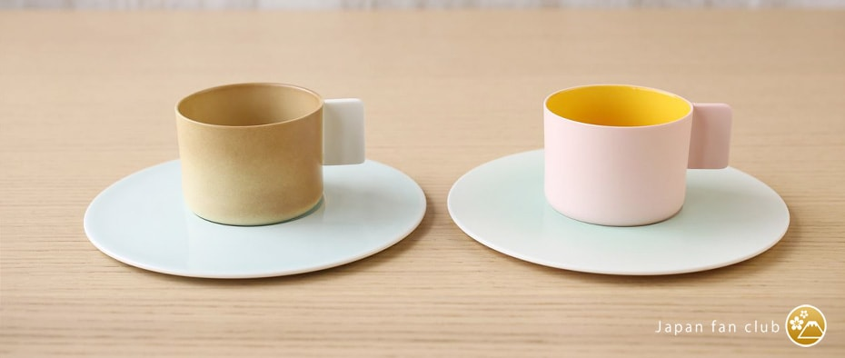 coffee cups and saucers of Arita porcelain