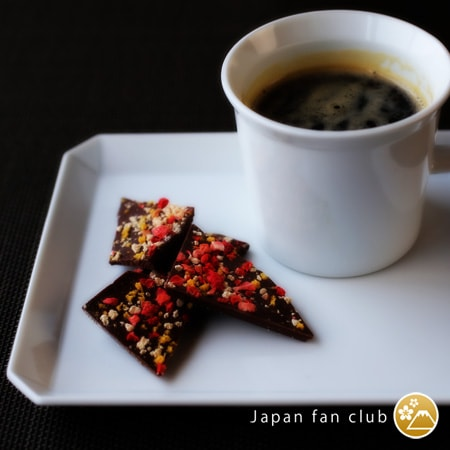 coffee break with small Square plate