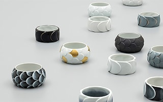 Frozen Japanese modern porcelain jewelry from the eyes
