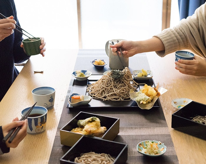 Soba party with Arita soba cups of amabro
