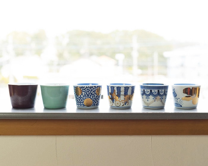 Arita soba cups of CHOKU series from amabro