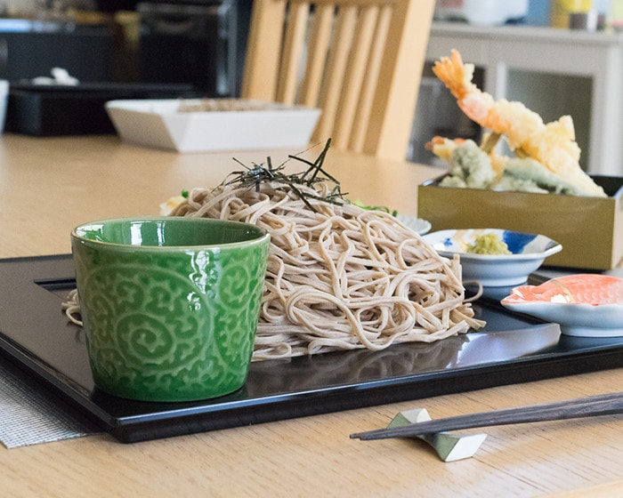 Green soba cup of ERI from amabro