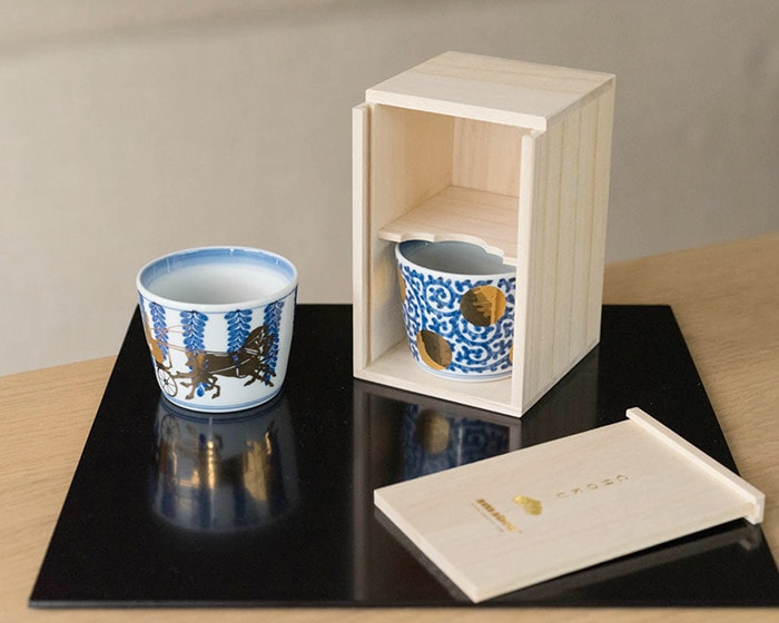 Exclusive paulownia gift box for Pair sets of Arita soba cups