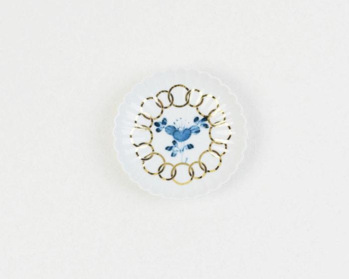 amabroの豆皿MAME椿紋輪花