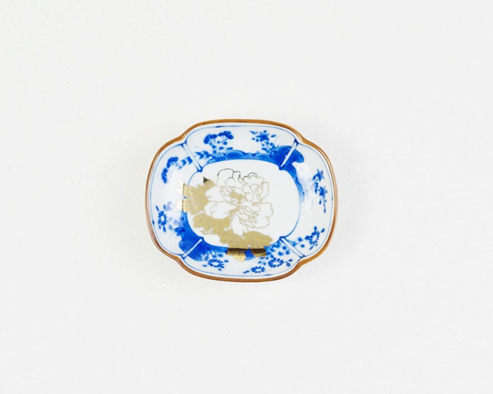amabroの豆皿MAME草花文木瓜形皿