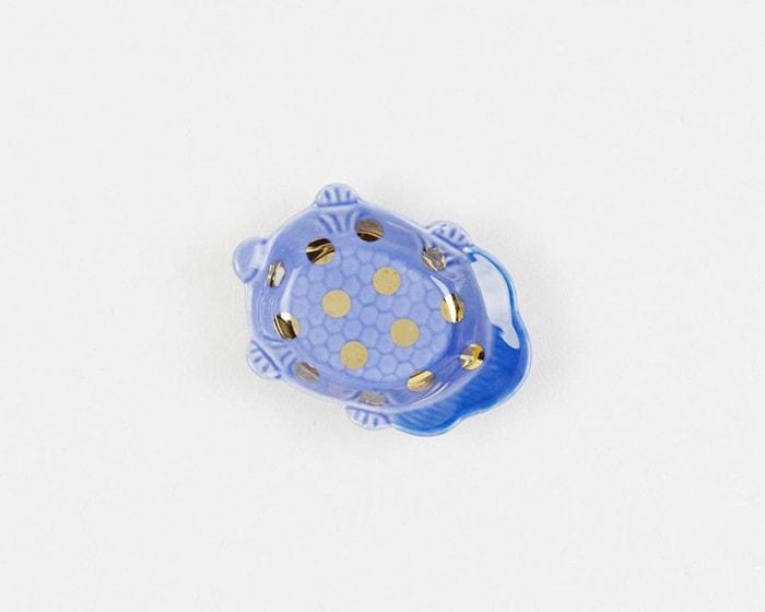 amabroの豆皿MAME瑠璃釉亀形皿