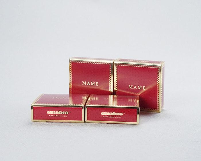 amabroの豆皿MAME専用の赤い化粧箱