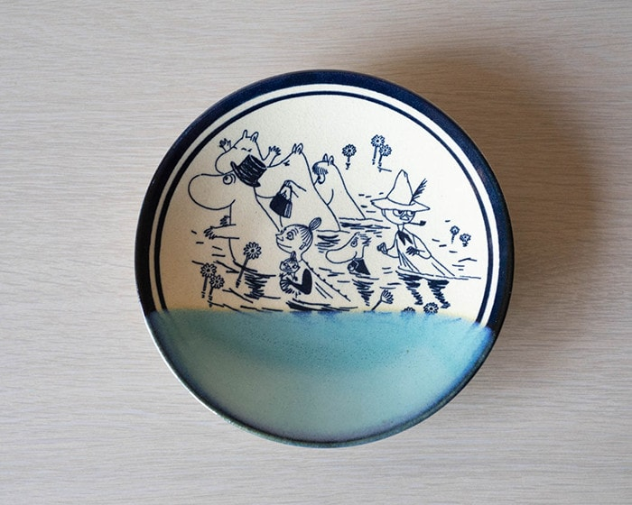 Moomin Mashiko pottery plate Seiji