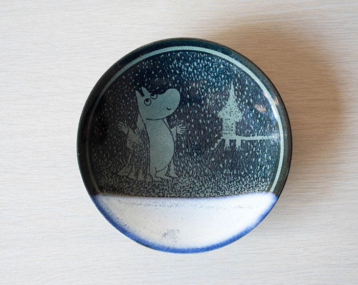 Moomin Mashiko pottery plate Gosu