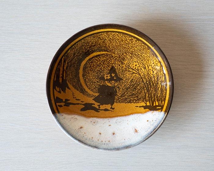 Moomin Mashiko pottery plate Ame