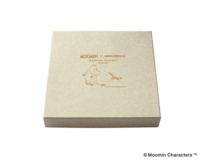 Elegant square box of Mashiko pottery plates of Moomin