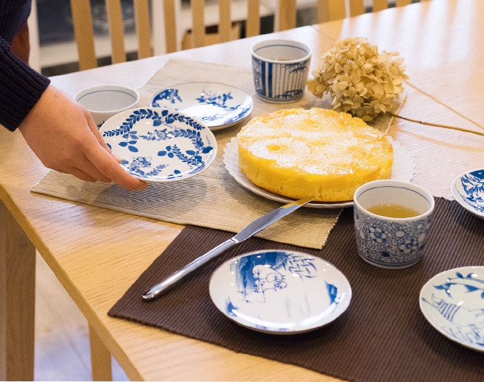 Cake time with Sometsuke series of Moomin plates