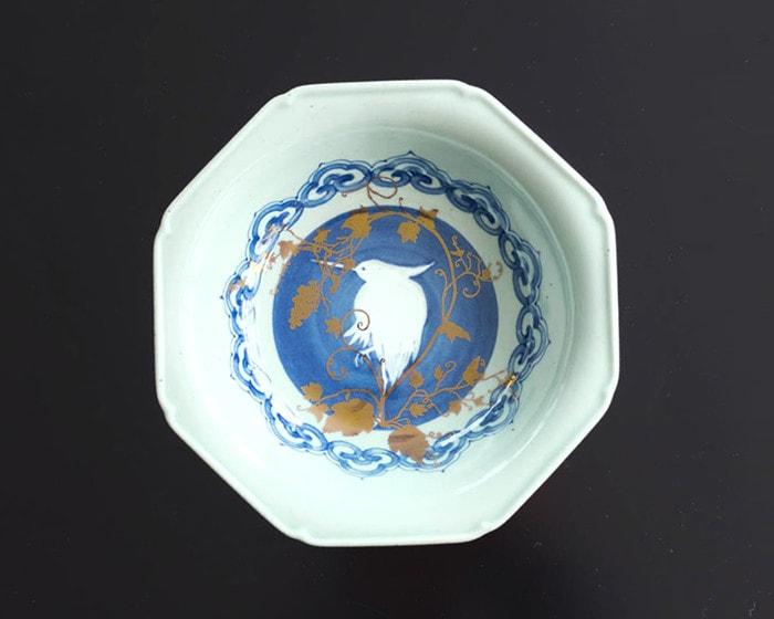 Arita deep dish of Shiro-Nuki-Sagi-Mon-Hakkaku-zara
