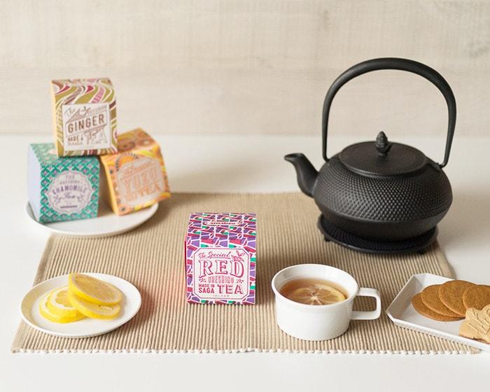 うれしの紅茶でティータイムの様子