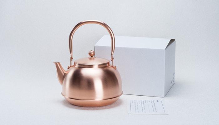 東屋の銅之薬缶(どうのやかん)と説明書と箱