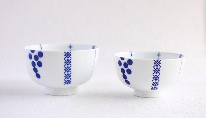 大小2種類夫婦茶碗としても