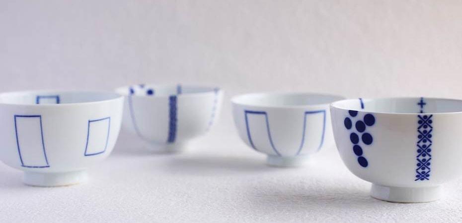 東屋 花のご飯茶碗