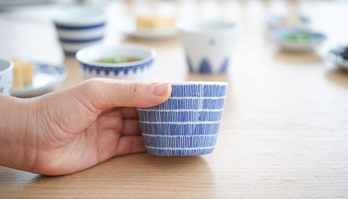 Soba choko cups of Azmaya Rain