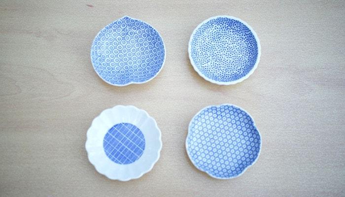 4種類の印判豆皿
