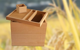 Wooden rice container as the home for rice