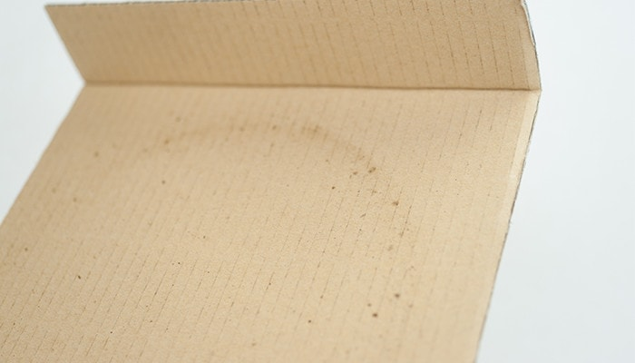 Black spots of cardboard box