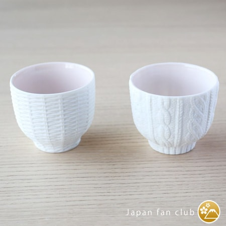 Different patterns of Trace Face tea cups