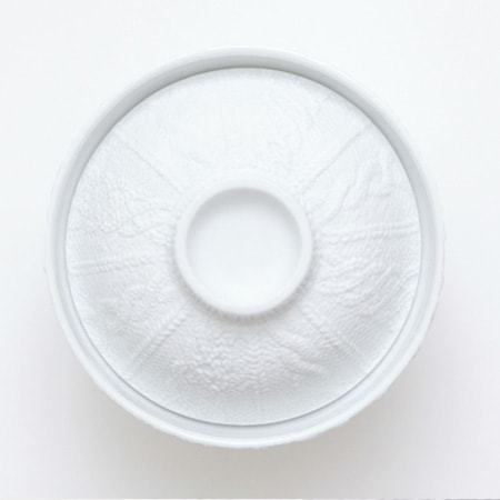 The lid design of donburi bowl of Trace Face series