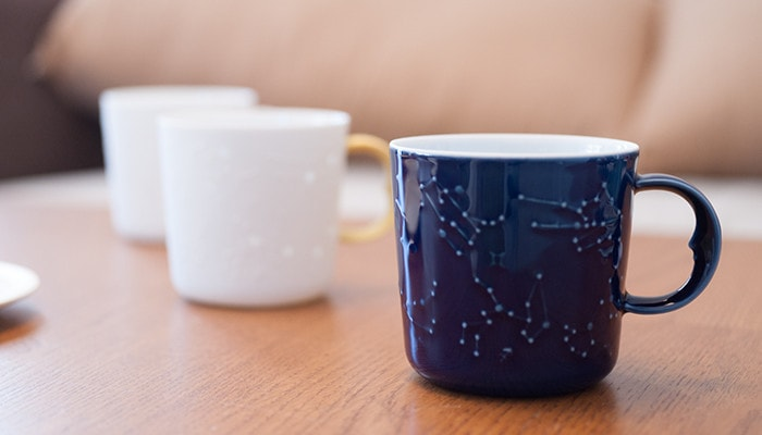 Azure blue mug of constellation mugs