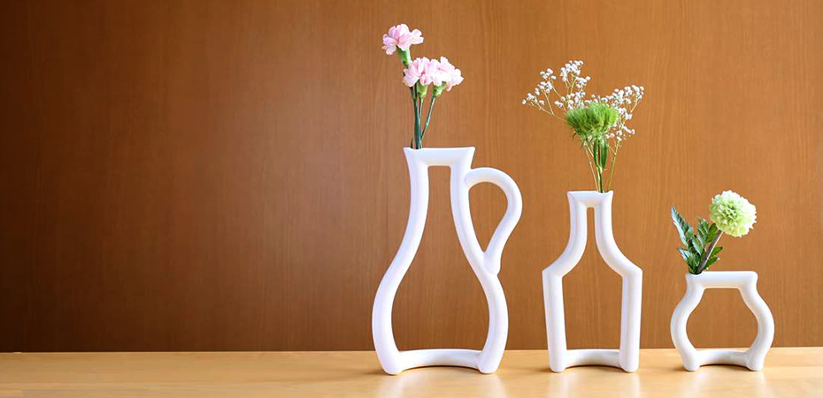 Small vases still green from ceramic japan