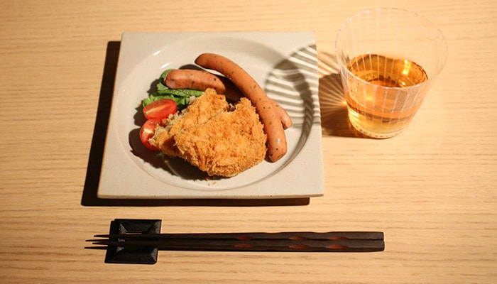 metal chopstick rest square attach Japanese breeze to your table