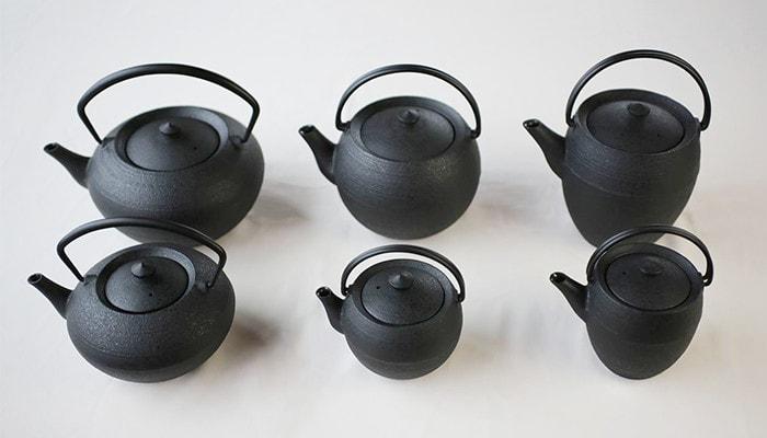 6 types of Yamagata cast iron teapot