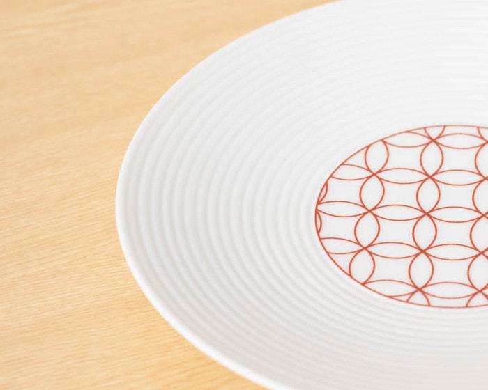 和モダンシリーズの食器に刻まれた千段筋のアップ