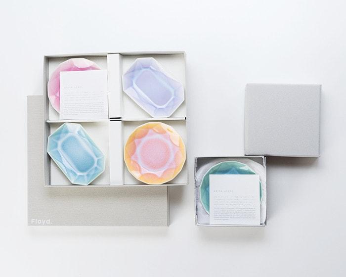有田ジュエルの化粧箱と紙箱の比較