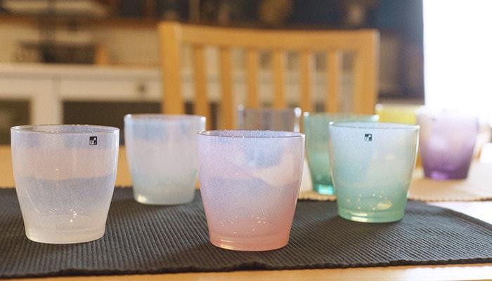 テーブルに並べられたfrescoのsolitoのグラス