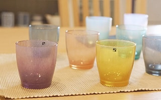 Hand blown & cute colored glassware solito