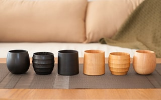 Warm your life with wooden cup of Yamanaka lacquerware