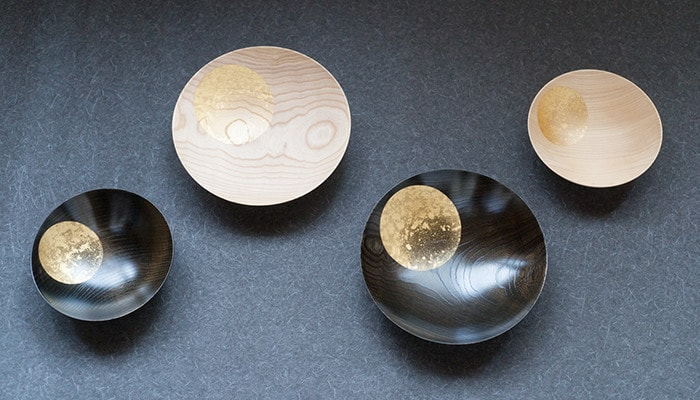 4 types of Japanese lacquer bowls Oborozuki