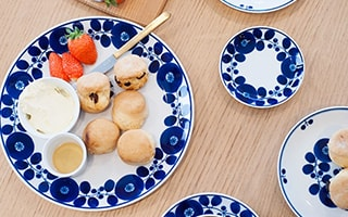 Cute dishes of Scandinavian style design