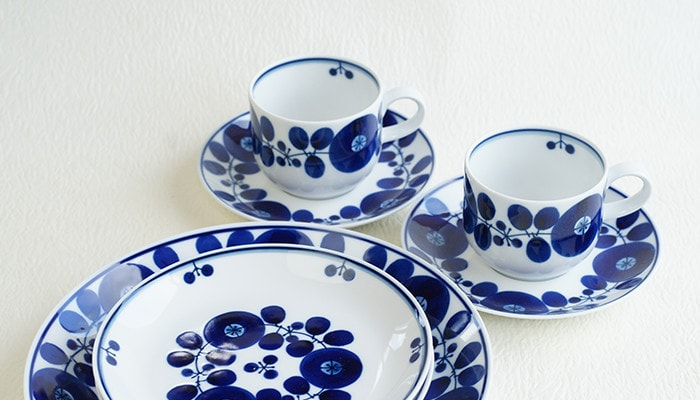 Coffee cup & saucer of Bloom series form Hakusan Toki