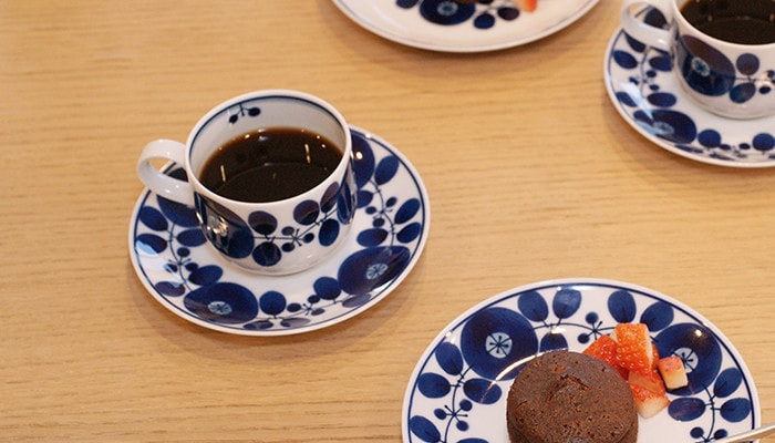 Coffee cup & saucer of Bloom series from Hakusan Toki