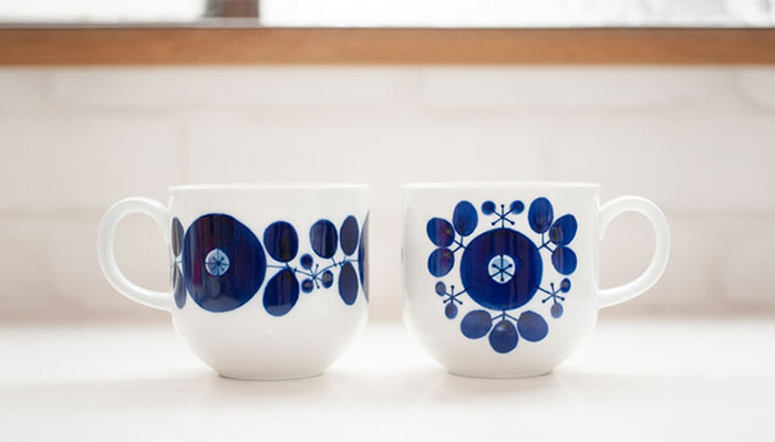 Mugs of Wreath and Bouquet of Bloom series