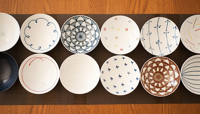 Modern and stylish patterns of Japanese rice bowls of Hakusan Toki