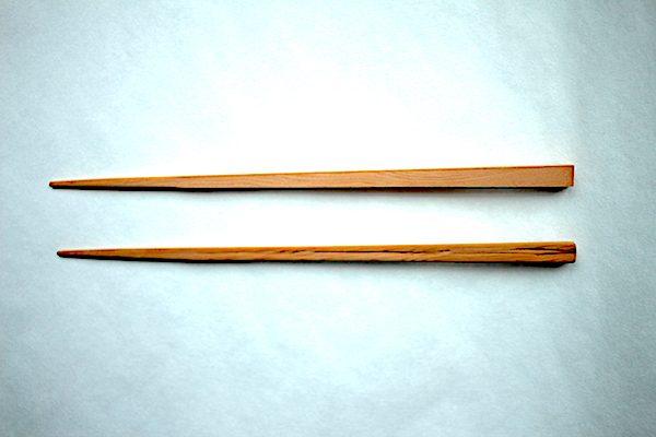 手作り箸の比較