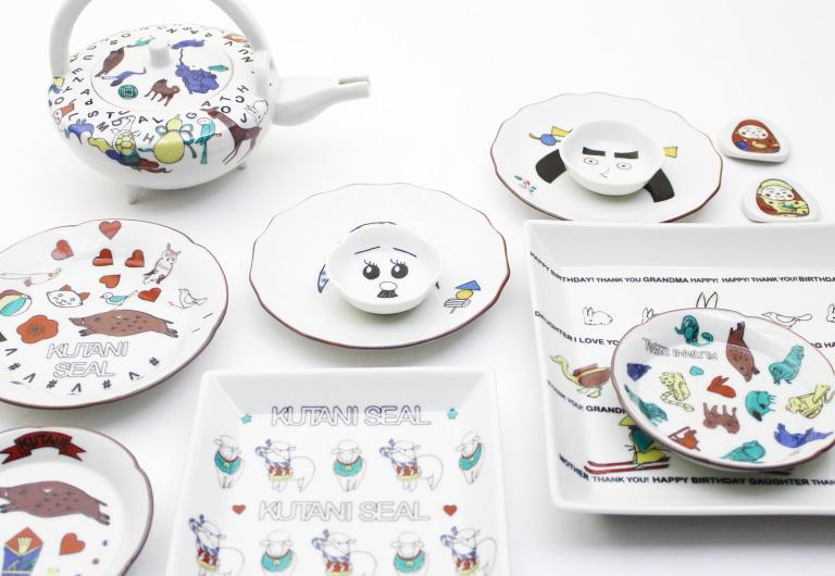シールを貼るだけ!おうちで作るオリジナルデザインの九谷焼食器