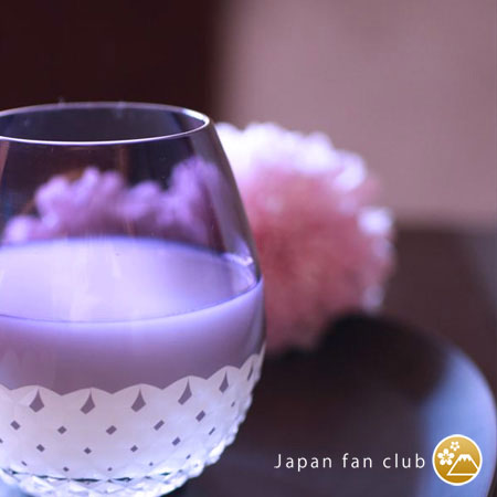 Beautiful purple color of Edo kiriko glass Karai