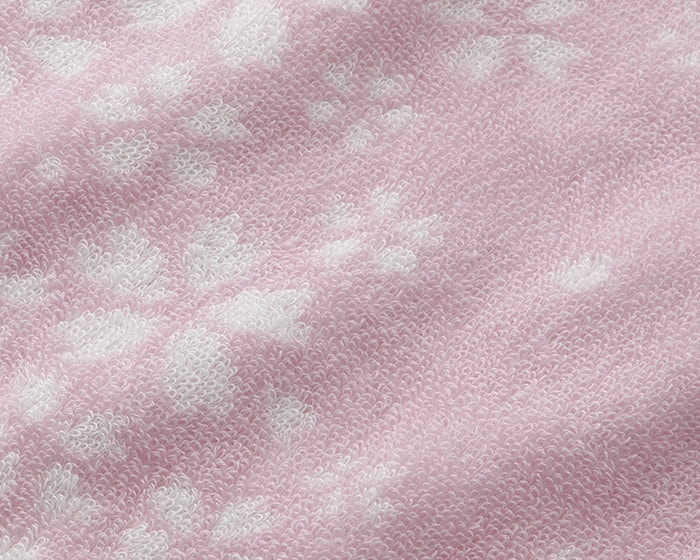 Detailed patterns of floral towel Sakura Mon-Ori towel